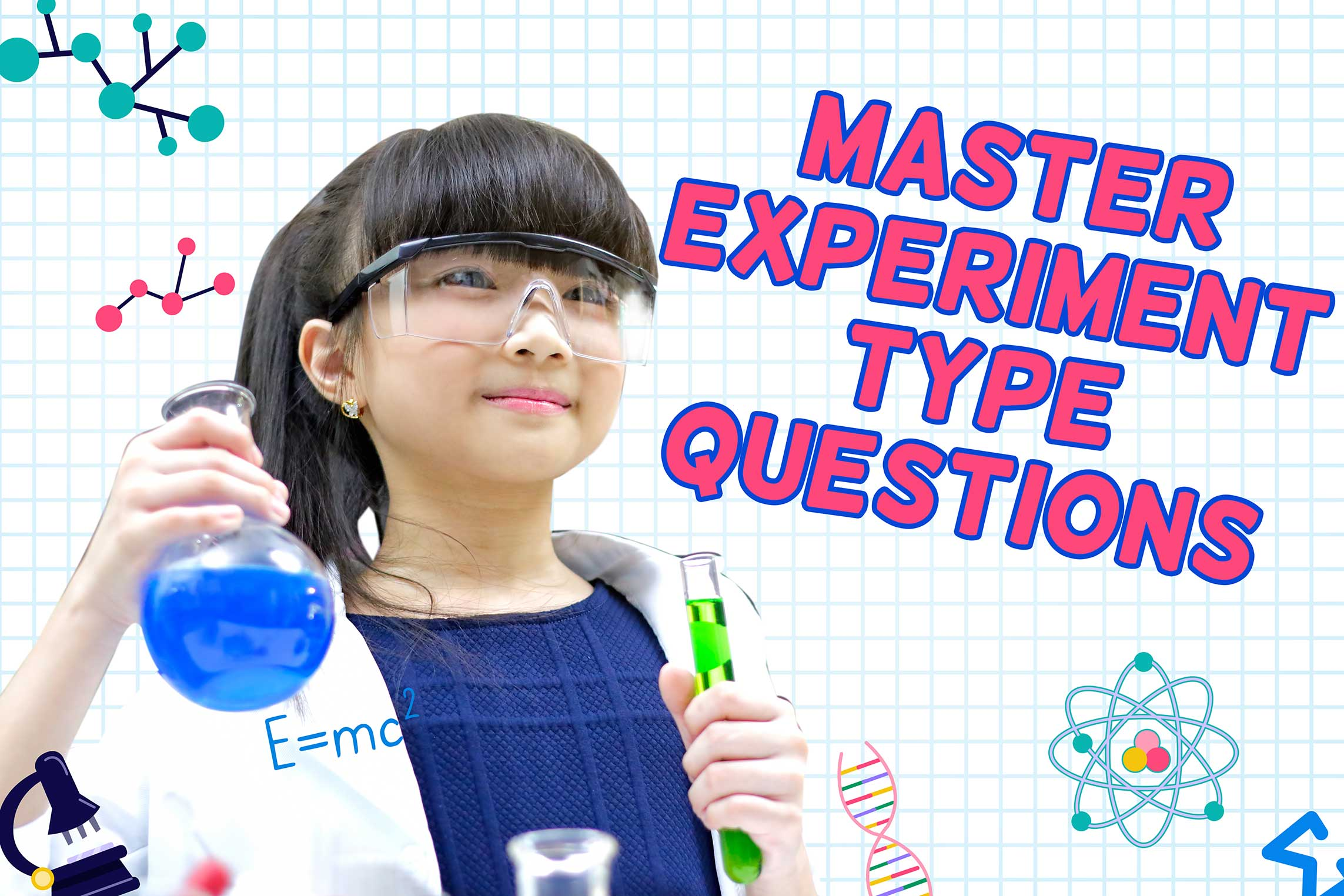 (P3, P4 in 2021) Be a Scientist and Master Experiment Type Questions
